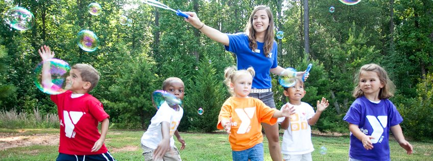 ymca kids with bubbles - annual